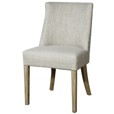 New Paris Parsons Chair Upholstery: Natural