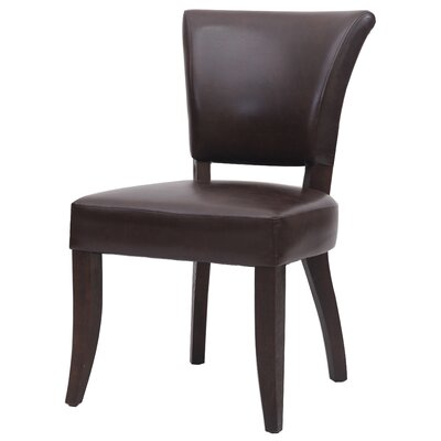 Austin Side Chair Upholstery: Dark Brown