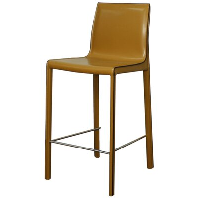 Gervin 25.5 Bar Stool with Cushion Upholstery: Chestnut