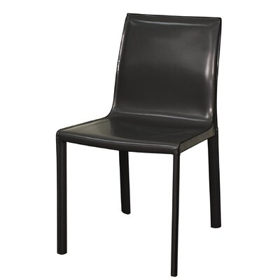 Gervin Recycled Leather Side Chair Color: Anthracite