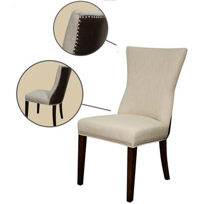 Casey Upholstered Dining Chair Upholstery: Flax/Vintage Coffee