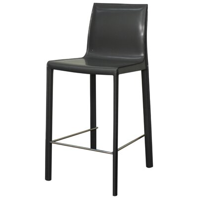 Gervin 25.5 Bar Stool with Cushion Upholstery: Anthracite