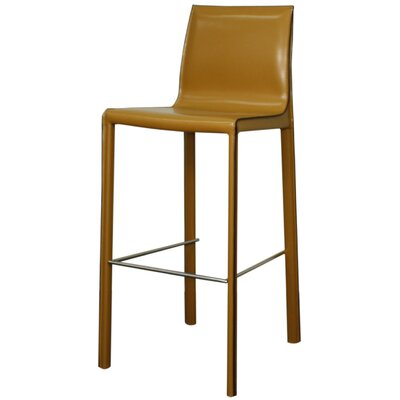 Gervin 29.5 Bar Stool Upholstery: Chestnut