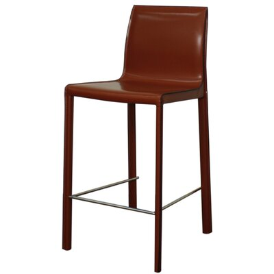 Gervin 25.5 Bar Stool with Cushion Upholstery: Cordovan