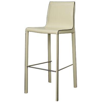 Gervin 29.5 Bar Stool Upholstery: Vanilla