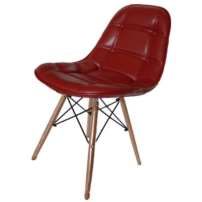 Neo Side Chair Upholstery: Red/PU