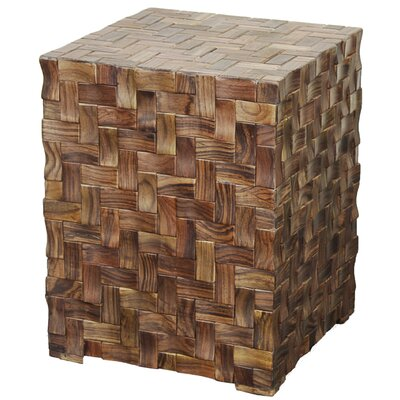 Cinch Cube End Table Finish: Natural/Dark