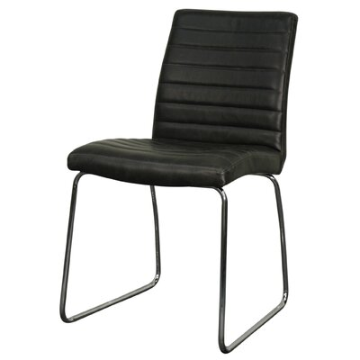 Brady Side Chair Upholstery: Vintage Black