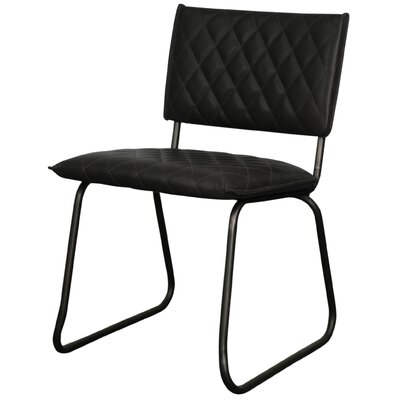 Patrick Side Chair Upholstery: Vintage Black