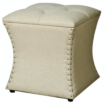 Augustine Upholstered Storage Ottoman Upholstery: Sand