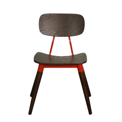 Arlo Side Chair Finish: Espresso / Red