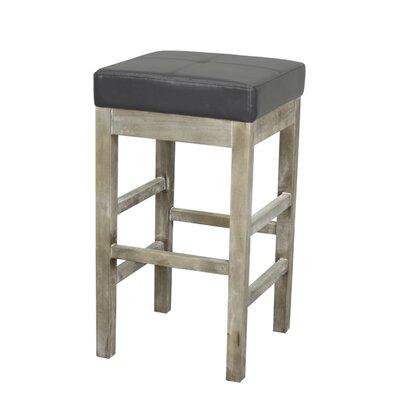 Valencia 27 Bar Stool Upholstery: Paynes Gray, Finish: Mystique Gray