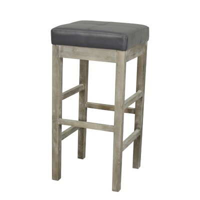 Kimberling 31 Bar Stool Finish: Mystique Gray, Upholstery: Paynes Gray