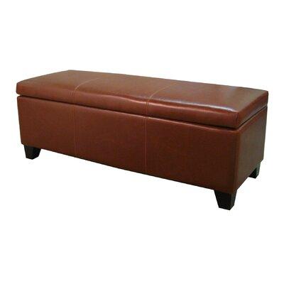 Luisa Storage Ottoman Upholstery: Cognac