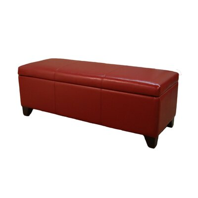 Luisa Storage Ottoman Upholstery: Red