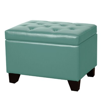 Kimbler Tufted Ottoman Upholstery: Turquoise