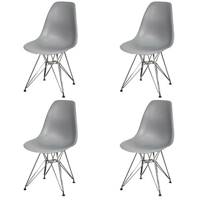 Essence Side Chair with Metal Wire Legs Finish: Gray