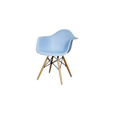 Judah Arm Chair with Wooden Legs Finish: Blue