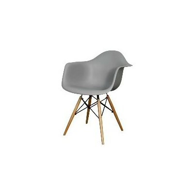 Judah Arm Chair with Wooden Legs Finish: Gray