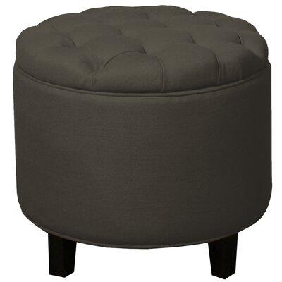 Avery Round Tufted Storage Ottoman Upholstery: Mushroom
