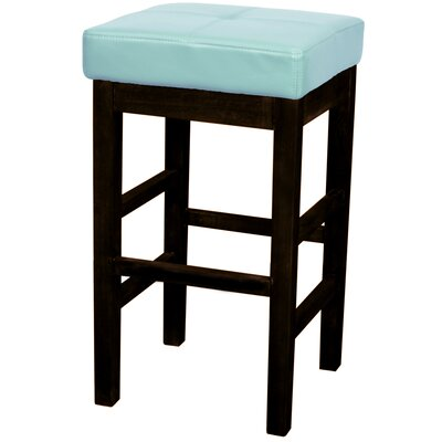 Kimberling 27 Wood Bar Stool Upholstery: Blue