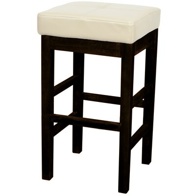 Kimberling 27 Wood Bar Stool Upholstery: Beige