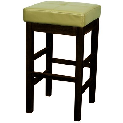 Kimberling 27 Wood Bar Stool Upholstery: Wasabi