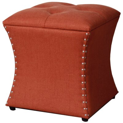 Augustine Upholstered Storage Ottoman Upholstery: Persimmon