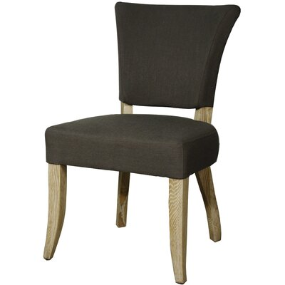 Austin Side Chair Finish: Natural, Upholstery: Bark