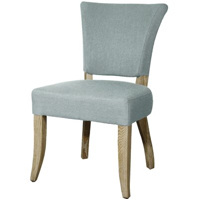 Austin Side Chair Finish: Natural, Upholstery: Soft Blue