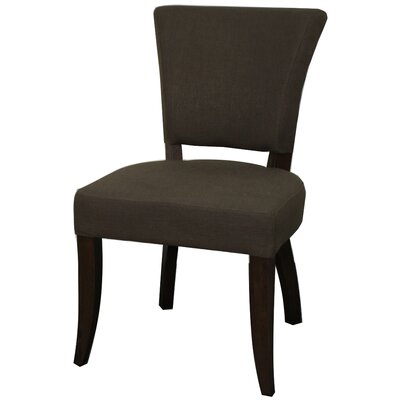 Austin Side Chair Finish: Dark Brown, Upholstery: Bark