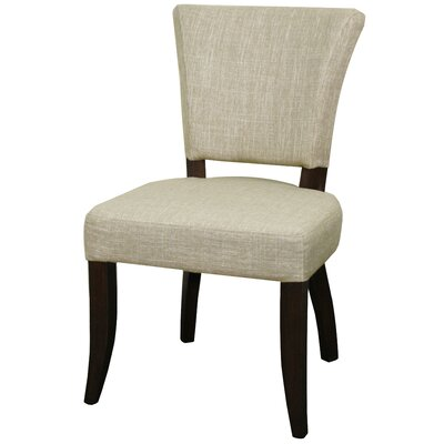 Austin Side Chair Finish: Dark Brown, Upholstery: Rice