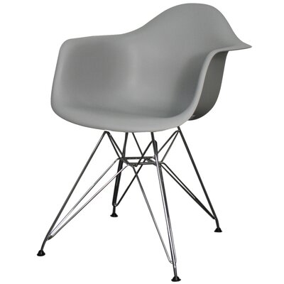 Pospisil Arm Chair with Metal Wire Legs Finish: Gray