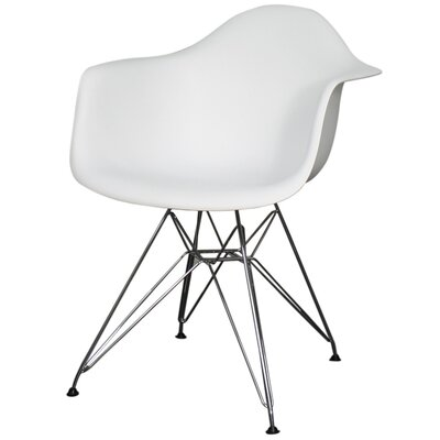 Pospisil Arm Chair with Metal Wire Legs Finish: White