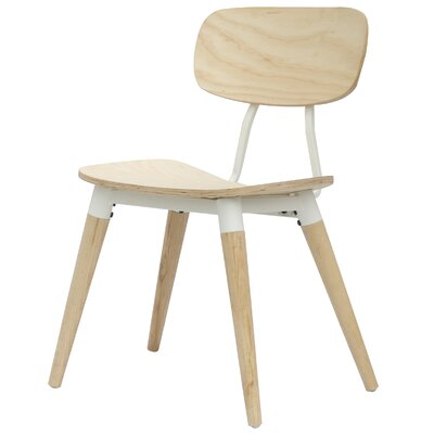 Arlo Side Chair Finish: Natural / White