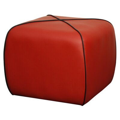 Rex Square Ottoman Upholstery: Red