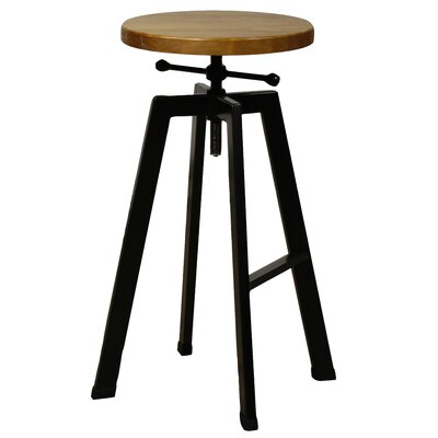 Adal Adjustable Height Swivel Bar Stool