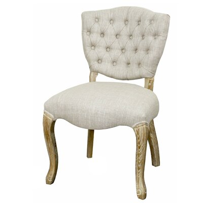 Adrienne Side Chair Color: Rice, Finish: Natural