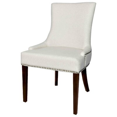 Minisink Side Chair Upholstery: Cream / Brown