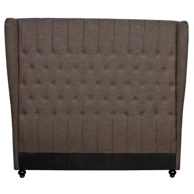 Alice Queen Upholstered Wingback Headboard Upholstery: Umber