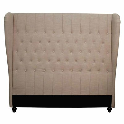Alice Queen Upholstered Wingback Headboard Upholstery: Khaki