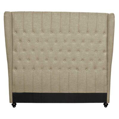 Alice King Upholstered Wingback Headboard Upholstery: Khaki