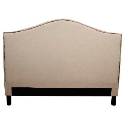 Chloe Upholstered Panel Headboard Upholstery: Khaki, Size: Queen