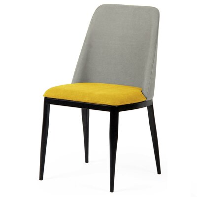 Dixey Side Chair Finish: Forsythia/Morning Fog