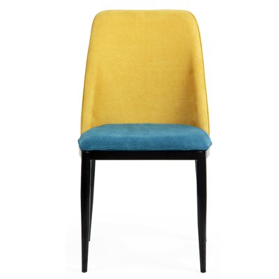 Dixey Side Chair Finish: Celestial Blue/Forsythia