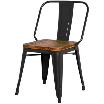 Brian Solid Wood Dining Chair Finish: Black