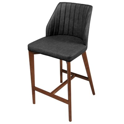 Tory 26.5 Bar Stool with Cushion Upholstery: Night Shade