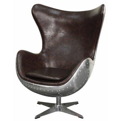 Devaughn Swivel Rocker Wingback Chair Upholstery: Distressed Java