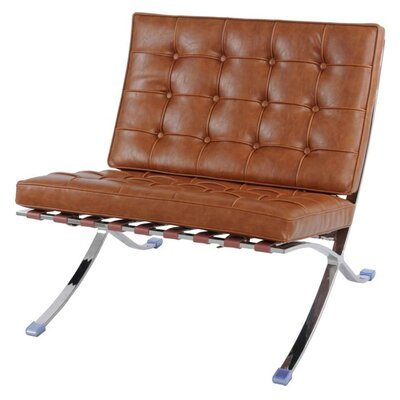 Barca Lounge Chair Color: Distressed Caramel