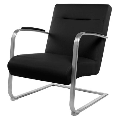 Jerzy Arm Chair Color: Black Knight